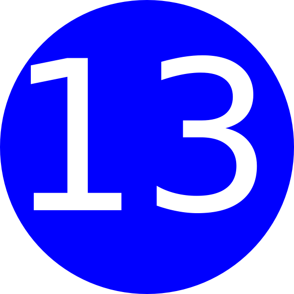 Number clipart thirteen Blue Wallpapers Number 13 13