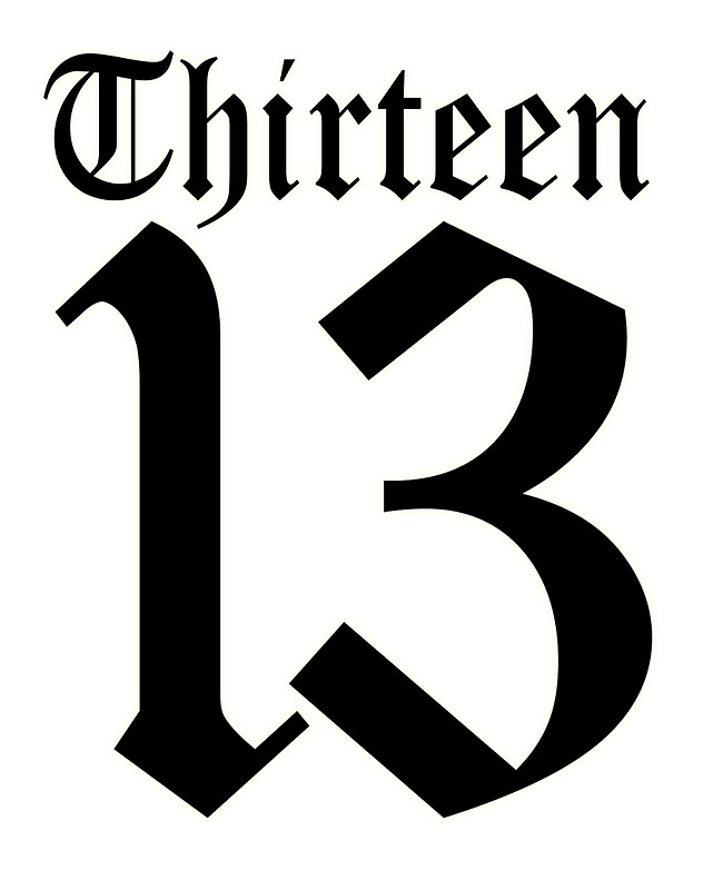 Number clipart thirteen 13 NUMBER SPORTS ONE SPORTS