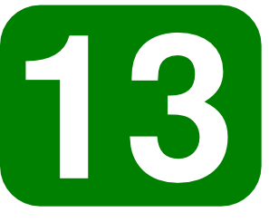 Number clipart thirteen Green With With Art Rectangle