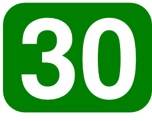 Number clipart thirty At Rounded Green Rectangle Clip