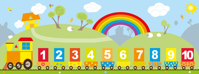 Number clipart train Search on with line