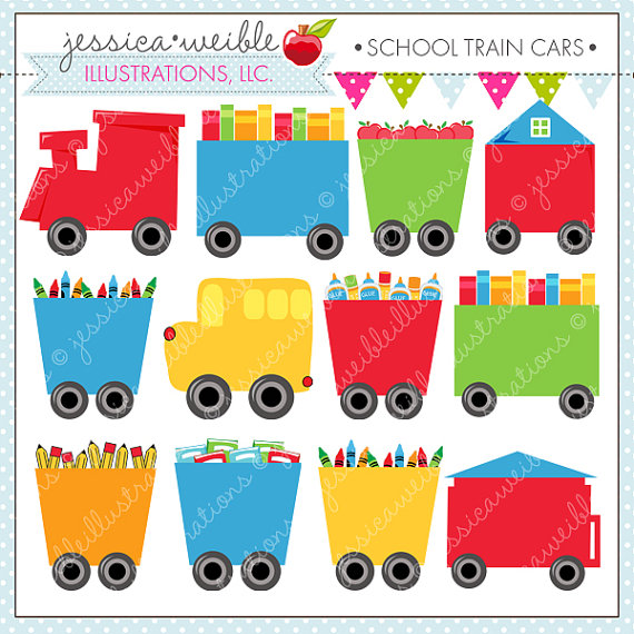 Number clipart train Commercial Train Digital Cute or
