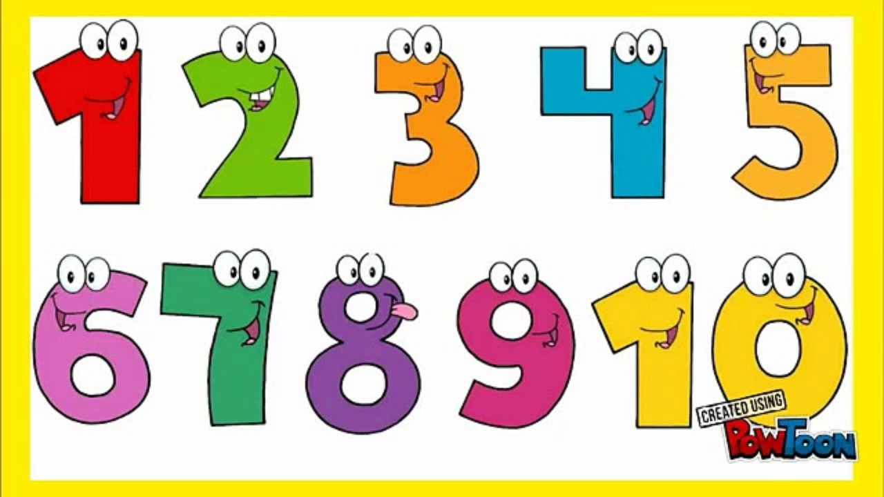 Number clipart train Toddlers KIDS 1 FUN kids