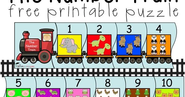 Number clipart train Kindergarten Number Puzzle Puzzle Toddler