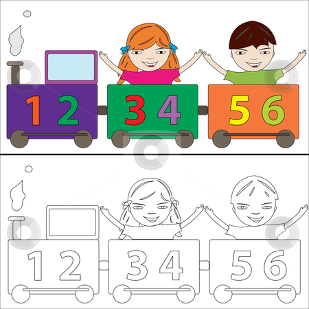 Number clipart train Numbers soup hanpoimacming39's train clipart