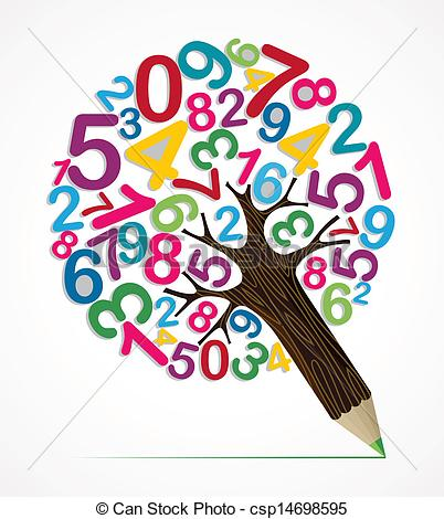 Number clipart tree  pencil variety Number csp14698595