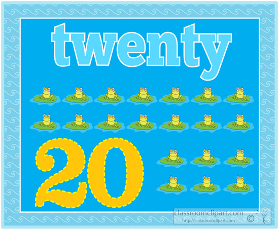 Number clipart twenty 150 Pictures for Counting Results