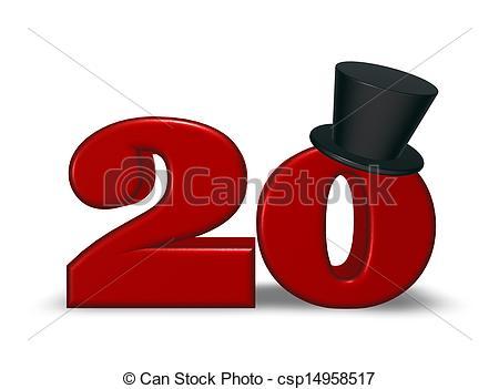 Number clipart twenty Topper topper twenty Stock topper