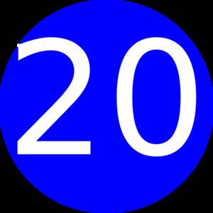 Number clipart twenty (Cambridge twenty Memrise List Word