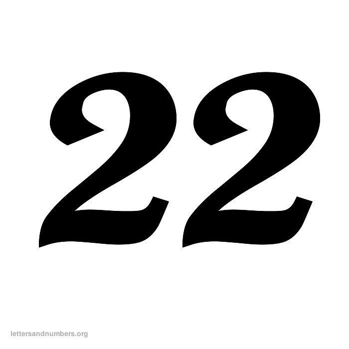 Number clipart twenty two In – 22 Mathematics Europe