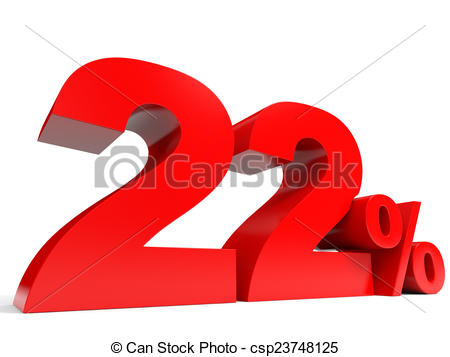 Number clipart twenty two Red Discount two  csp23748125
