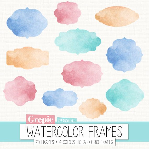 Number clipart watercolor Gold Watercolor Ribbons Pink Clip
