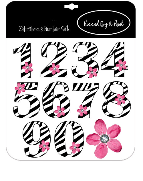 Zebra clipart number 1 Clipart Zebra Clipart Numbers Download