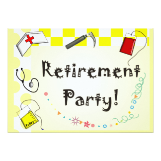 Party clipart nurse Announcements Invitations Retirement Invitations Nurse