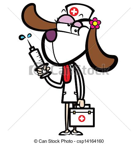 Syringe clipart cute First dog Vector and Vector