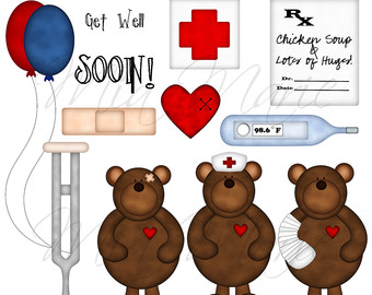 Teddy clipart nurse Teddy INSTANT DOWNLOAD Bear Art