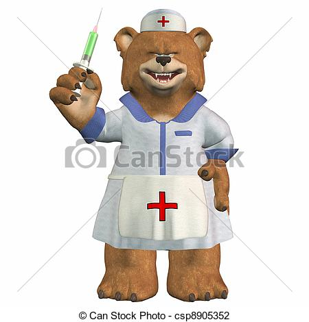 Nurse clipart teddy bear Illustration Art csp8905352 nurse bear