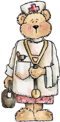 Teddy clipart nurse  Wenskaart this Pinterest Sick