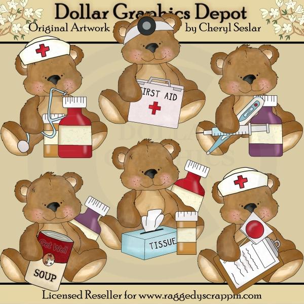 Nurse clipart teddy bear $1 Benson Clip Soon