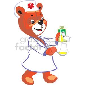 Teddy clipart nurse Spoon Nurse teddy and a