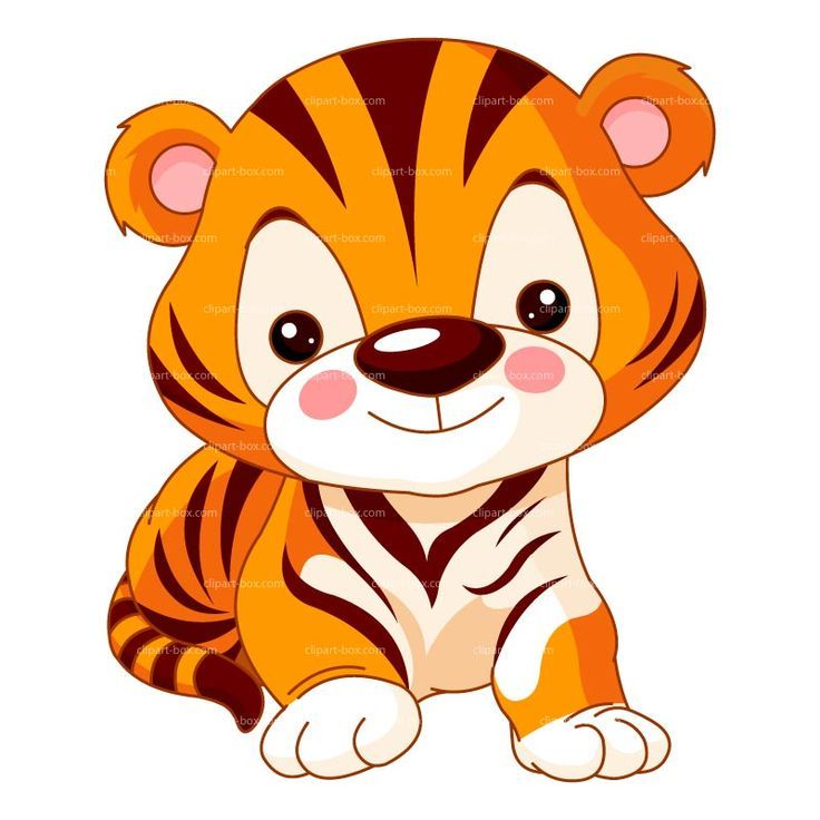 Big Cat clipart animated animal Tiger Gift Pinterest BABY Art