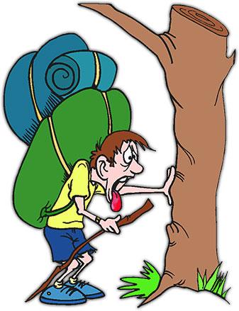 Hiking clipart camper #4