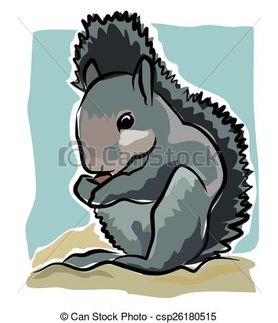 Nut clipart grey squirrel Gnaws gnaws on Art Clip