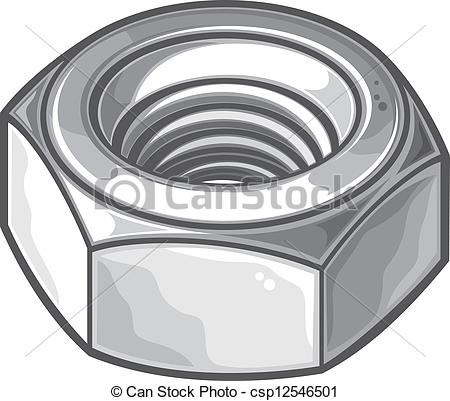 Nut clipart hexagonal Grey nut nut Vector Vector