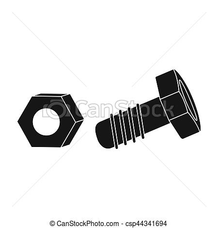 Nut clipart hexagonal Nut black  Illustrations Structural