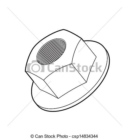 Nut clipart hexagonal Of art art Nut csp14834344