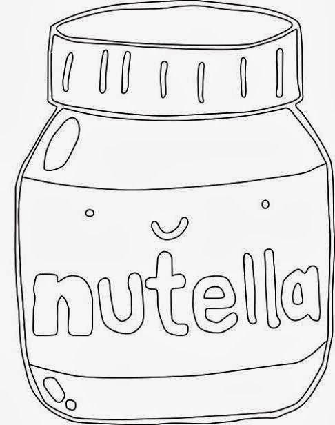 Nutella clipart black and white Clipart Clip Nutella Free Art