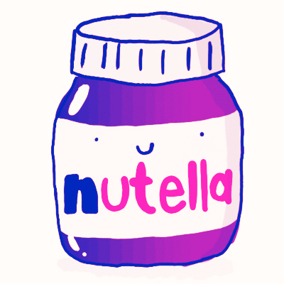 Nutella clipart black and white On jar Nutella clipart and
