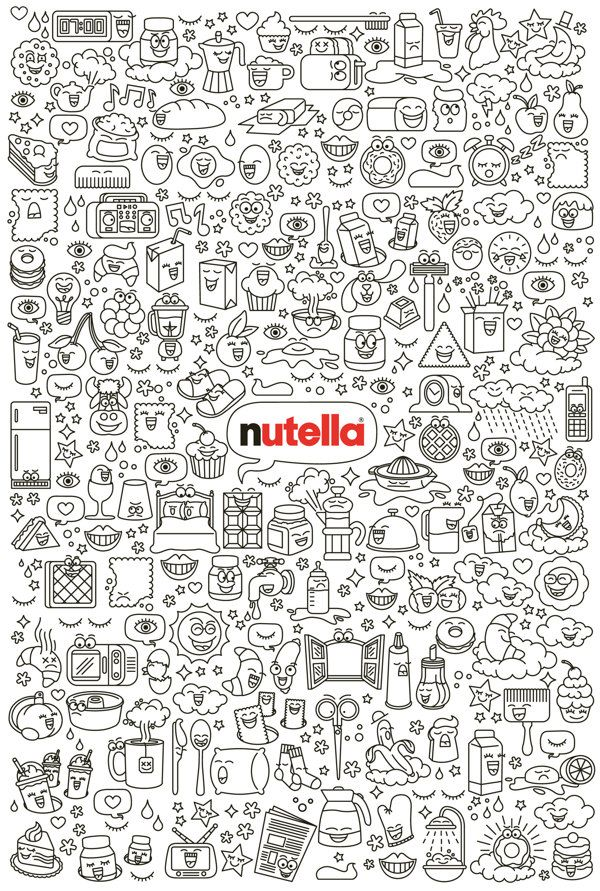 Nutella clipart black and white Edition  Best Limited Nutella