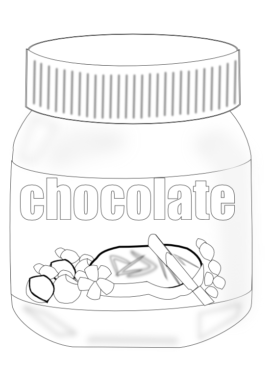 Nutella clipart black and white Free Art Clipart Clip on