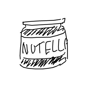 Nutella clipart black and white Download Free Free Art