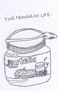 Nutella clipart black and white Lol Pinterest Nutella The catalog