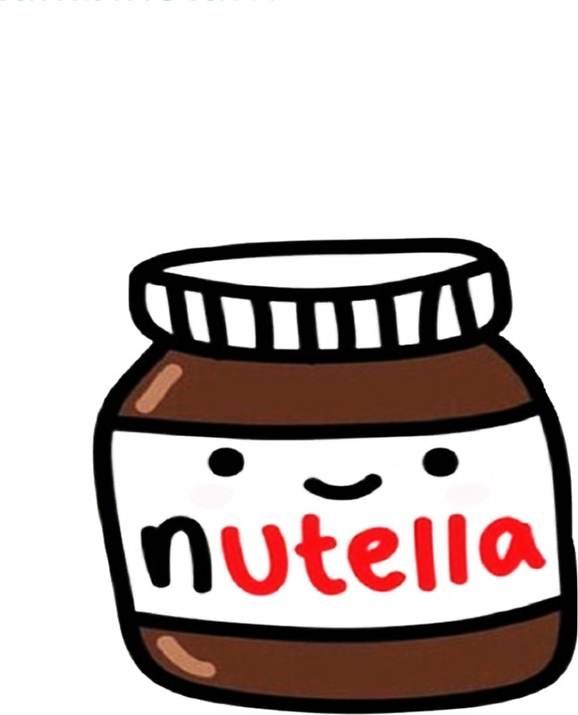 Nutella clipart cartoon By Redbubble hoeirl Stickers by