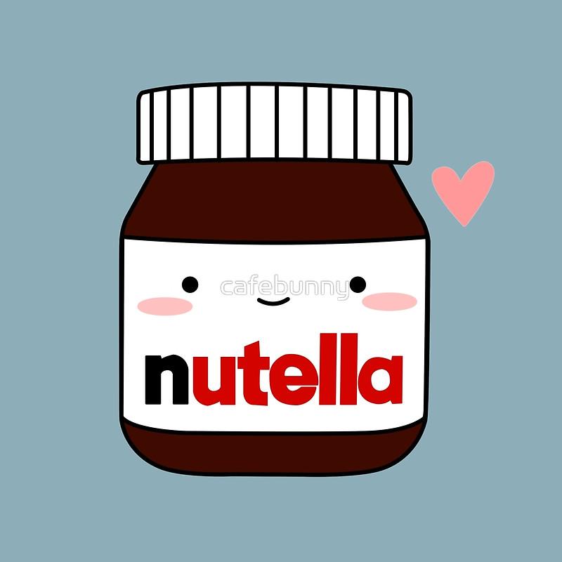 Nutella clipart cute Nutella Cute Cute Redbubble Pillows