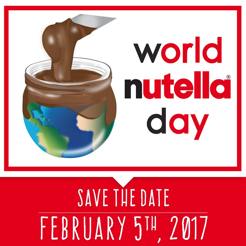 Nutella clipart word Reply Twitter Day 1 World