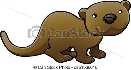 Otter clipart drawn Sweet A Vector Art vector