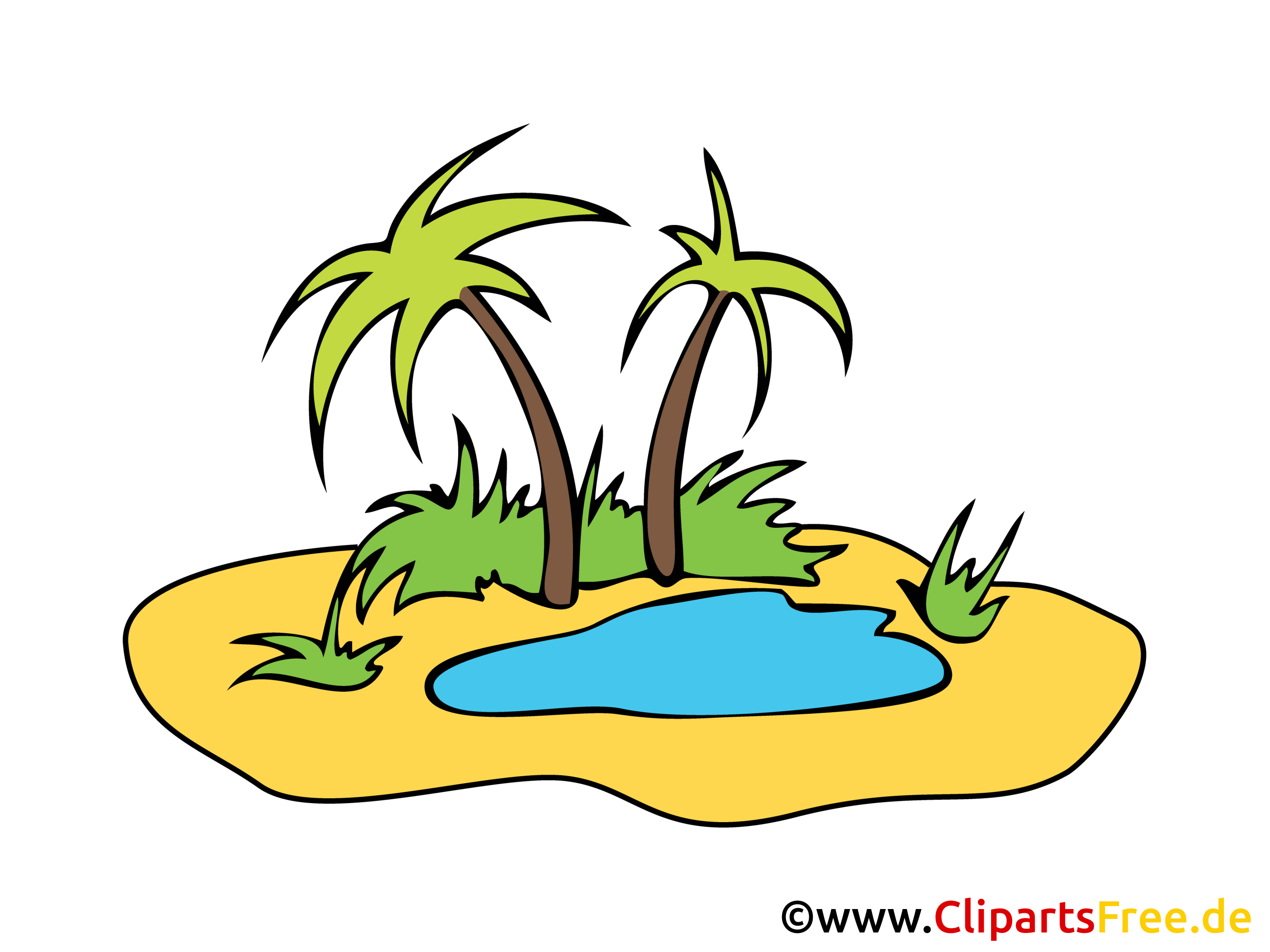 Oasis clipart #14