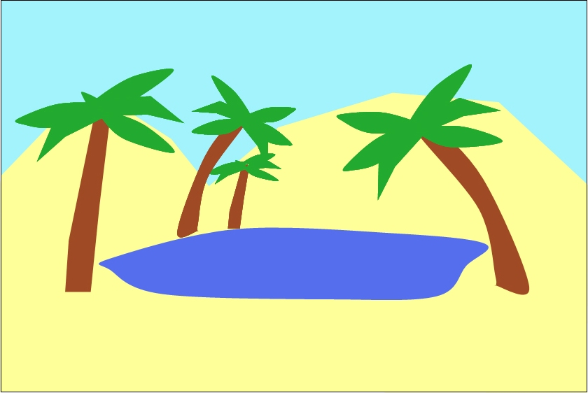 Oasis clipart #5