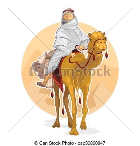 Oasis clipart arabian A EPS Riding A Arabian