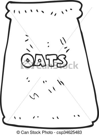 Oat clipart black and white Drawn Vector of cartoon of