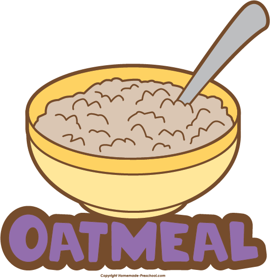 Oatmeal clipart bowl spoon Save Food Clipart Free to