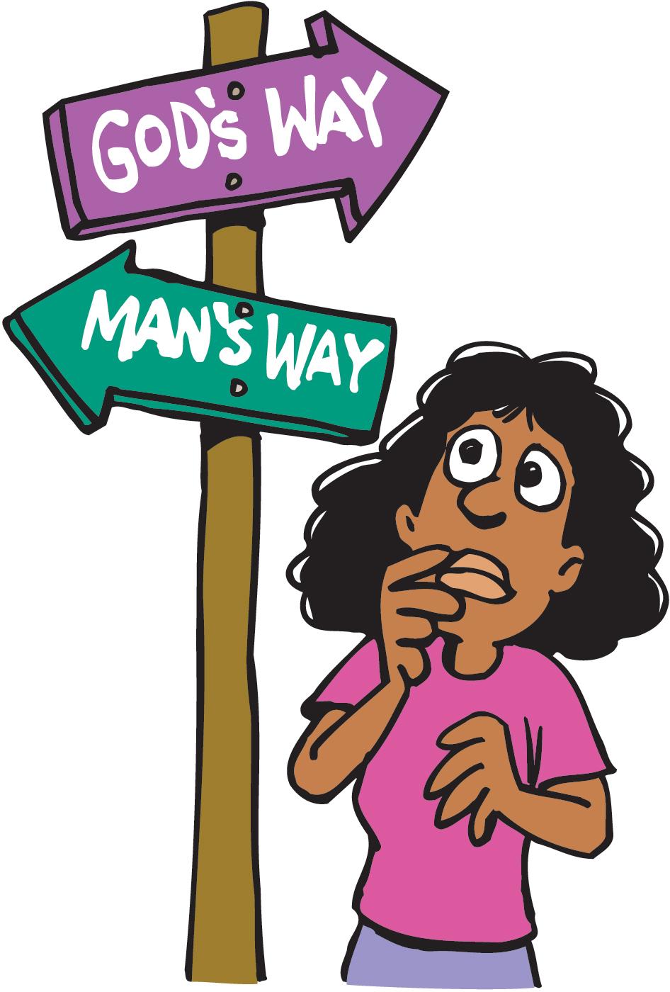 Way clipart choice The Listen God Choices make