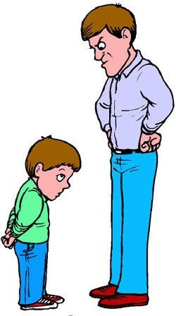 Anger clipart angry dad Down Controlling of looking son!