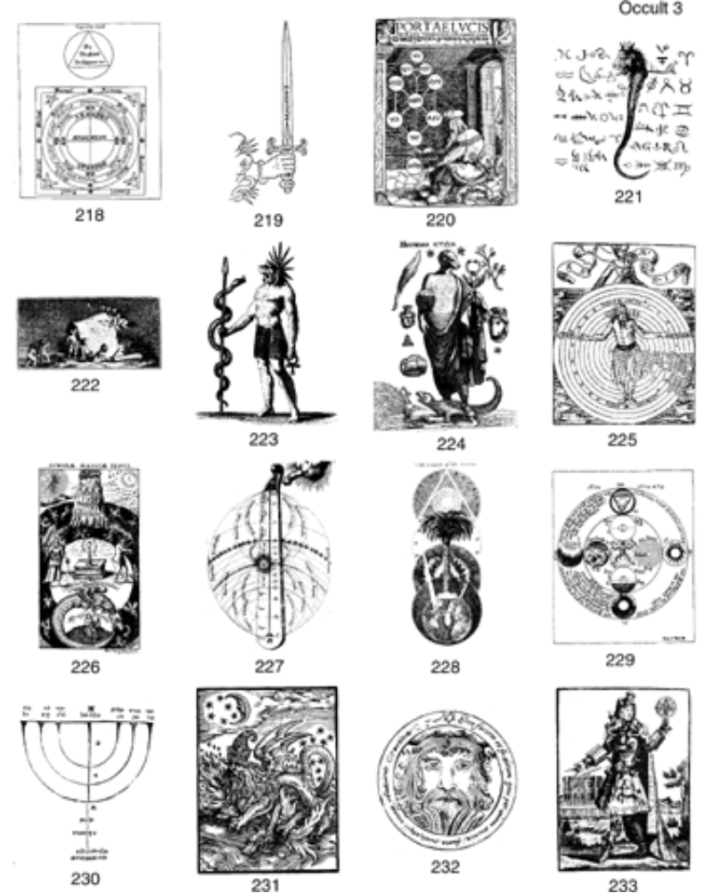 Occult clipart Alchemical 4 Pages Clip Collection