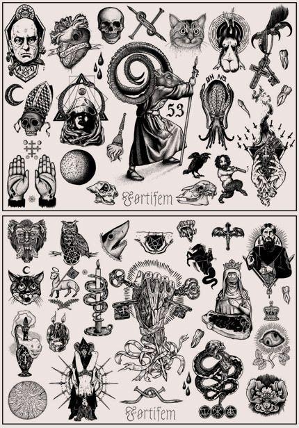Occult clipart flash  / tattoo Tattoo Førtifem