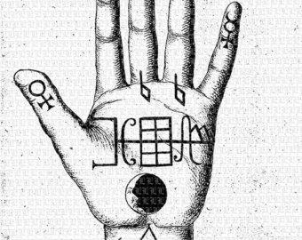 Occult clipart hand Clip occult Art tattoos symbol